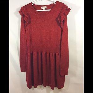 CAT & JACK Girls RED Valentines Dress M 7/8